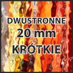 Smycze reklamowe z nadrukiem - z logo - dwustronne - krótkie - szer. 20mm - 200sztuk