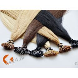 PASEMKA Włosy 100% NATURALNE 45cm 100 szt + Ringi