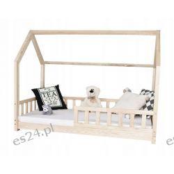 Łóżko dziecięce DOMEK materac 200x90+BARIERKI
