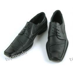 Pantofle Męskie Wizytowe środek SKÓRA (M86)