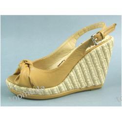 Extra Sandały Espadryle Koturn 11cm (D1013)