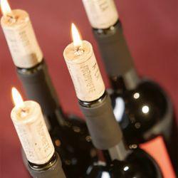 Świeczki w kształcie korków do butelki