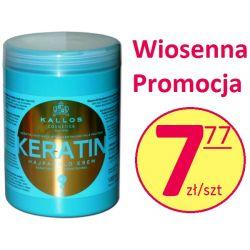 Kallos Keratyna Maska 1 litr WŁOSY ZNISZCZONE Maski do włosów