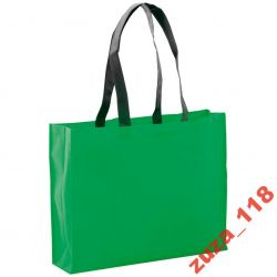 Torba na zakupy długie raczki zielona 7519