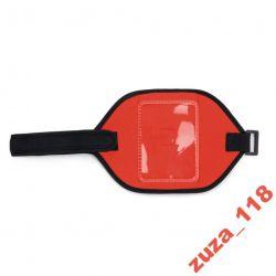 Saszetka opaska na rękę czerwona neopren 7607