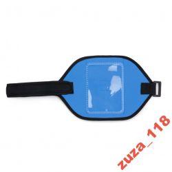 Saszetka opaska na rękę niebieska neopren 7607