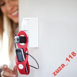 Uchwyt na telefon czerwony silikon 280
