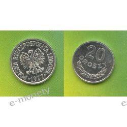 20 groszy 1977 rok mennicze Monety groszowe