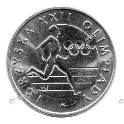 20 zł Igrzyska XXII Olimpiady 1980 mennicza