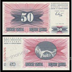 Bośnia i Hercegowina 50 DINARA 1992
