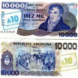 Argentyna 10 AUSTRALES 1985