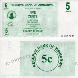 Zimbabwe 5 CENTS 2007