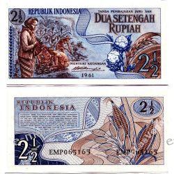 Indonezja 2,5 RUPII 1961