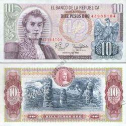 Kolumbia 10 PESOS 1980