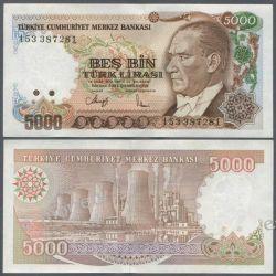 Turcja 5000 LIRA 1970