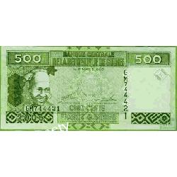 Gwinea 500 FRANCS 2006