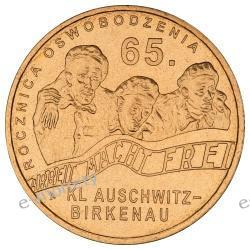2 zł GN 65. rocznica oswobodzenia KL Auschwitz-Birkenau