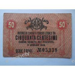 Włochy 50 CENTESIMI 1918