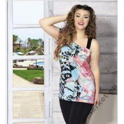 Bluzka tunika modna XXXL  3XL dla puszystej 50 52