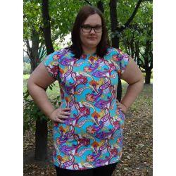 tunika bluzka XXXL 3XL dla puszystej 50 52 modna