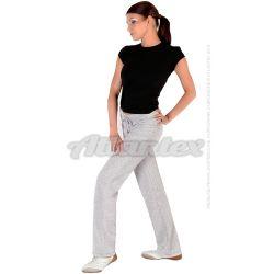 Spodnie dresowe damskie proste nogawki kolor: szary melanż