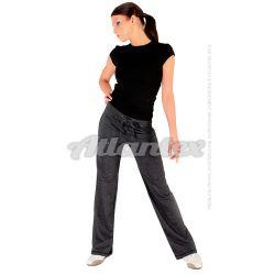 Spodnie dresowe damskie proste nogawki kolor: grafit