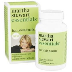 Martha Stewart Essentials Hair Skin Nails Supplement 60 Vegetarian