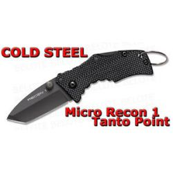 Cold Steel Micro Recon 1 Tanto Point Folding Knife Plain Edge Tri Ad Lock 27TDT