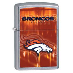 Zippo 2014 NFL Denver Broncos Street Chrome Lighter Brand New in Box 28587