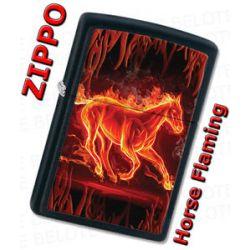 Zippo Fiery Fire Flaming Horse Black Matte Windproof Lighter 28304 New L K