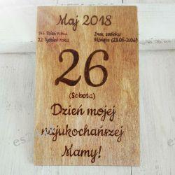Drewniana pocztówka na Dzień Matki