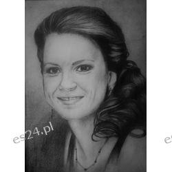 Portret w ołówku A4, ze zdjęcia