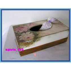 Chustecznik RÓŻE, pudełko na chusteczki