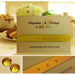 Zaproszenia ślubne, ze zdjęciem, na ślub + KOPERTA