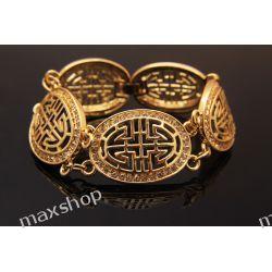 Bransoletka pozłacana 18 karatów Złota Biżuteria i Zegarki