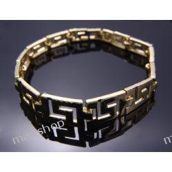 Bransoletka pozłacana 18 karatów Biżuteria i Zegarki