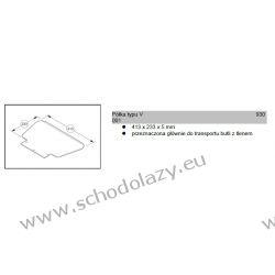 Półka typu V 413x233x5mm do schodołazów SAL SANO LIFTKAR