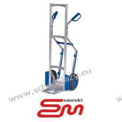 Wózek dwukołowy ręczny aluminiowy taczkowy PISTOL PŁOZY (półka stała) MODULKAR