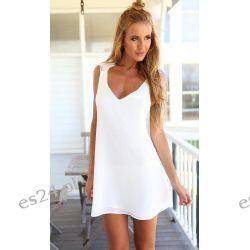 Biała sukienka Vestidos