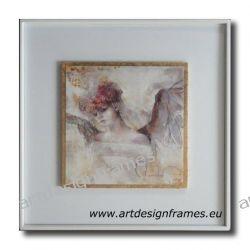 IGP 1265 H, anioły, nowoczesne obrazy do ładnego wnętrza, obrazy w białych ramach, Antyki i Sztuka