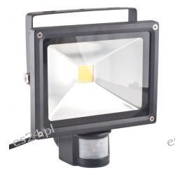 Oprawa lampa naświetlacz halogen Led 30W barwa zimna z czujnikiem ruchu PIR