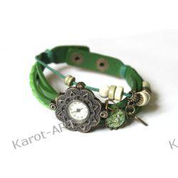 Zegarek SERCE i suszone kwiaty Biżuteria i Zegarki