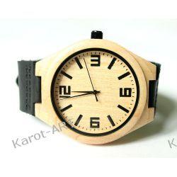Drewniany zegarek KLON czarny