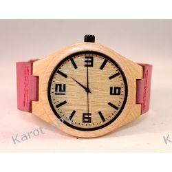Drewniany zegarek KLON różowy