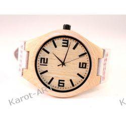 Drewniany zegarek KLON biały