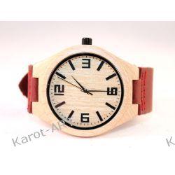 Drewniany zegarek KLON czerwony