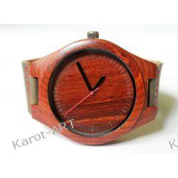 NOWOŚĆ drewniany zegarek z czerwonego sandałowca