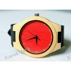 NOWOŚĆ na lato! Drewniany czarwony zegarek BAMBUS