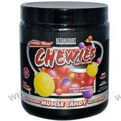 """Betancourt, Creatine """"Micros"""" Chewies, Sugar-Free Candy, Insane Berry Blend, 8 oz (Approx. 567 Tablets)"""
