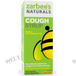 Zarbee's, Cough Syrup, Honey Lemon, 4 fl oz